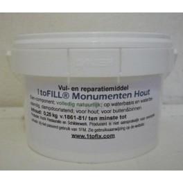 Vul- en reparatiemiddel 1toFILL® Monumenten Hout - 0,25 kg